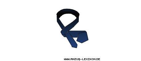 Wie man den einfachen Krawattenknoten bindet - zweiter Schritt