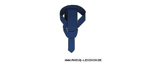 Wie man den einfachen Krawattenknoten bindet - fünfter Schritt