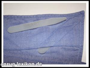 Kragenstäbchen herausnehmbar aus Plastik bei einem Hemd von Esprit.