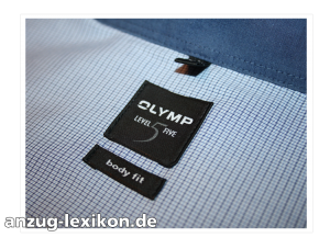 Etikett Olymp Level 5 Bodyfit Hemd